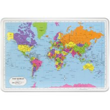 """Painless Learning Laminated Placemats 17.5""""X12.25""""-World"""
