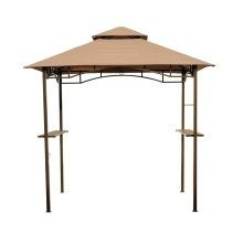 Outsunny 8ft Outdoor Double-tier Bbq Gazebo Shelter Tent Patio
