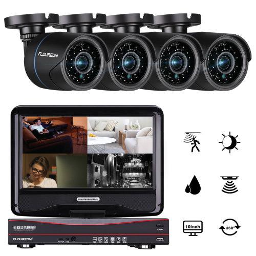 "10"" Screen 4CH 1080N AHD 5 IN 1 DVR CCTV Home Security Intercom System"