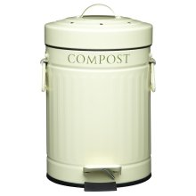 KitchenCraft Pedal-Operated Mini Kitchen Compost Bin, 3 Litres (5.25 Pints)