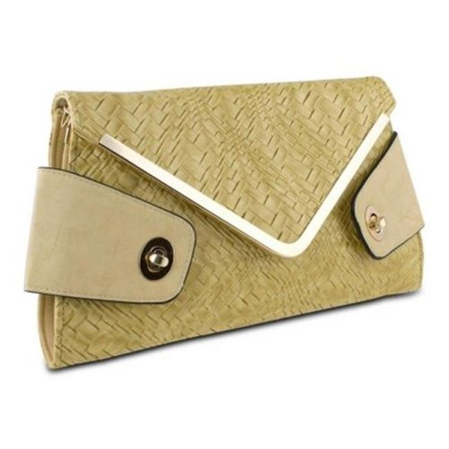 Mad Style 317844 Mad Style Owl Envelope Clutch, Beige