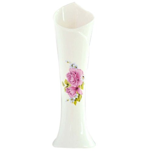 Red Chaise Pattern Small Vase Flower Holder Home Accessories(Multicolor)