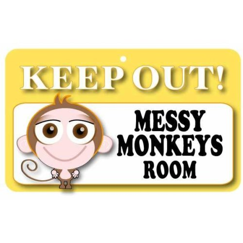 Keep Out Door Sign - Messy Monkeys Room