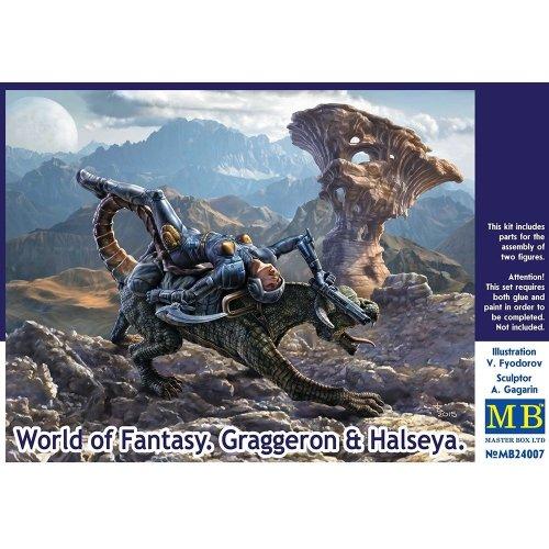 Mas24007 - Masterbox 1:24 - World of Fantasy - Graggeron & Halseya