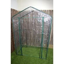 Walk In Greenhouse -  walk greenhouse shelves cover outdoor