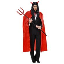 Red Cape 130cm Accessory For Fancy Dress -  long red cape 130cm halloween dracula devil elvis presley fancy dress prop