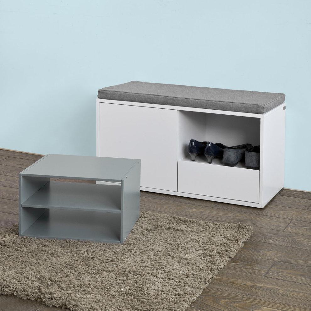 ... SoBuy® FSR37 W, Hallway Shoe Cabinet Shoe Rack Shoe Storage Bench   4  ...