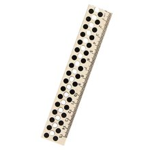 Set of 5 Student's Office Accessories Dot Hollow Wood Color Rulers 15 cm