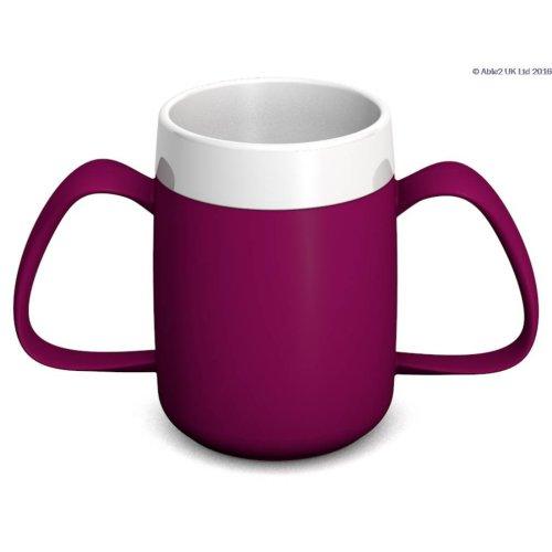 Ornamin Two Handled Mug + Internal Cone - 140ml - Drinking Aid