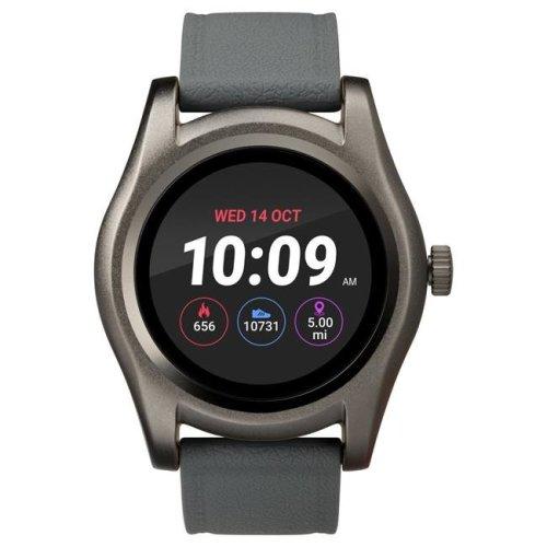 Timex TW5M31600SO Gunmetal Round Touchscreen Watch, Gray Silicone Strap