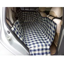 Waterproof Oxford Fabric Pet Car Seat Cover Dog Mat for Rear Seat, Grid