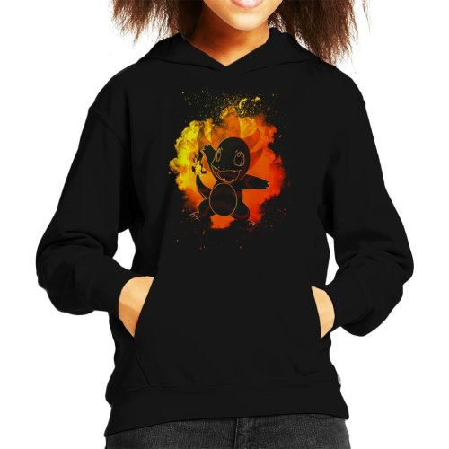 Soul Of Fire Charmander Pokemon Kid's Hooded Sweatshirt