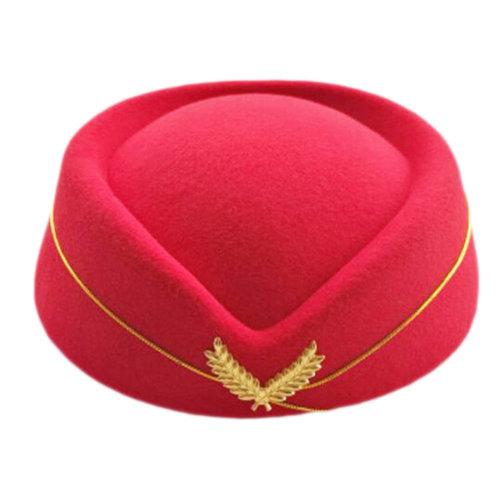 Flight Attendant Cap Etiquette Stewardess Hat Costume Cosplay Accessories-A09