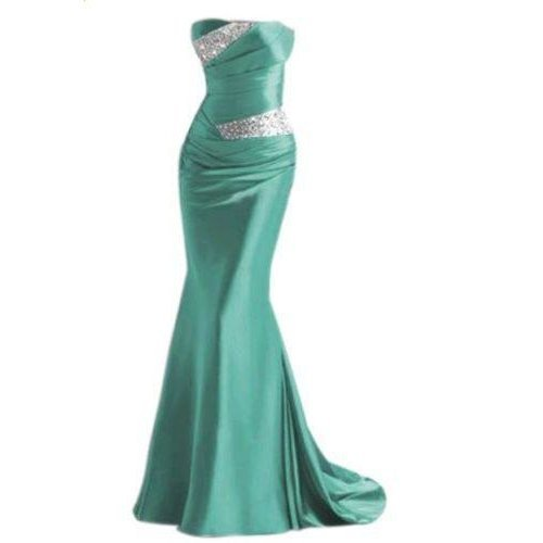 New Long Formal Beaded Mermaid Sweetheart Bridesmaid Dresses Party Gowns Wedding Prom Dresses Stock Size 6 8 10 12 14 16