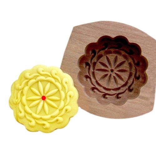 Wooden Carving Baking Molds/Dessert Baking Molds, Plum flower(8.5*8.5*1.5cm)