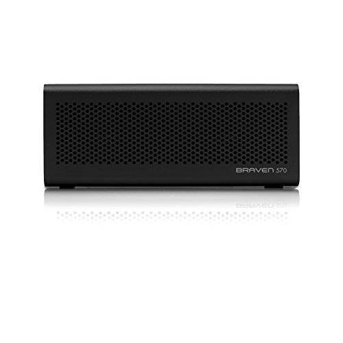 Braven 570 Portable Wireless Bluetooth Speaker 10 Hour Playtime Waterproof Built In 1400 mAh Power Bank Charger Black