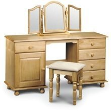 Crenby Pine Twin Pedestal Dressing Table Fully Assembled Option