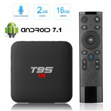 TV Box Android Superpow Box TV 7.1 2.4G voice remote S905W quad-core cortex-A53 2.4GHz WiFi Support 4K Full HD H.265 Android Box 2GB RAM 16GB ROM...