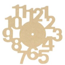 Wooden MDF Clock Face With Number Cut Outs To Decorate - 30cm