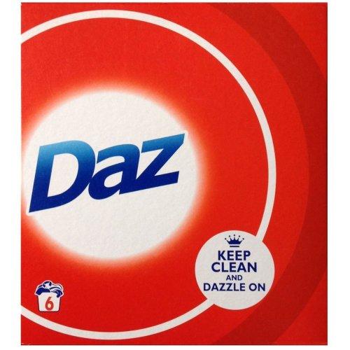 Daz Regular Washing Laundry Powder Cleaning Whitening Detergent - 390g, 6 Washes