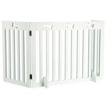 Trixie 3-parts Gate For Dog, 82-124 × 61 Cm, White - Dogs Barrier 82124cm New -  trixie dogs barrier 82124 cm new