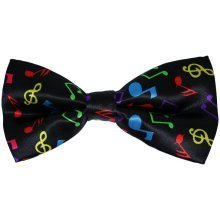 Multi-Coloured Musical Notes Bow Tie