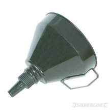 Silverline Plastic Funnel With Filter 160mm - 633563 -  funnel filter plastic 160mm silverline 633563