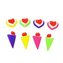 10 Pieces Of Fashion Cute Cartoon Erasers Cake And Ice Cream Modeling