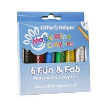 Little Helper Magic Wipe Crayons Satin-Finish, Vibrant and Washable