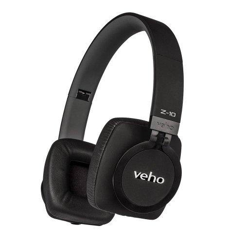 Veho Z-10 On-Ear Wired Premium Headphones | Black Edition | Aluminium Design | Stereo | Microphone | Remote Control | Detachable Cord Flex...
