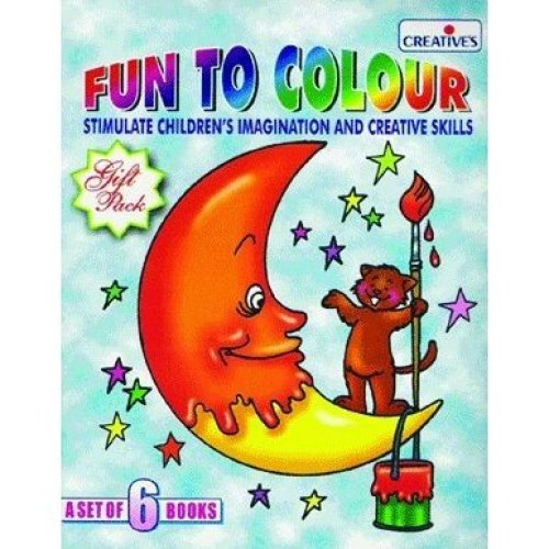 Creative Books - Fun Tocolour - A Set Of 6 Books - Cre050 Colour -  books cre0506 creative fun colour set