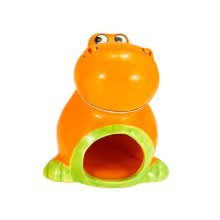 Cute Cartoon Orange Color Dinosaur Hamsters Toys Ceramics Material