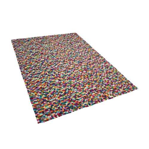 Felt Ball Rug 160 x 230 cm Multicolour AMDO