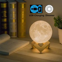 8cm Touch Sensor 3D Moon Lamp