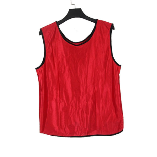 Set of 6 RED One Size Basketball/Soccer Scrimmage Vests Basketball Jersey