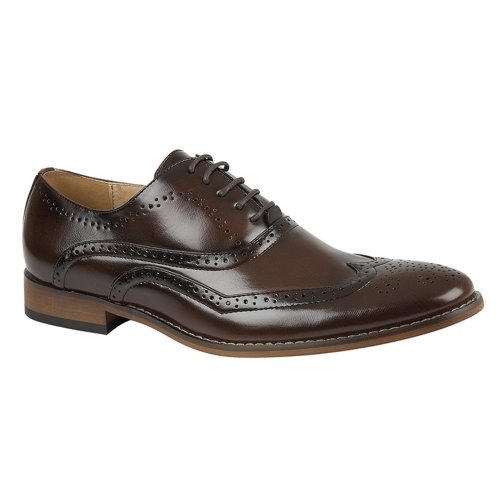 Goor Mens Brogue Shoe Brown