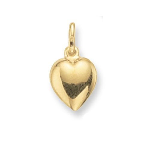 9ct Gold Heart Pendant On A Belcher Necklace