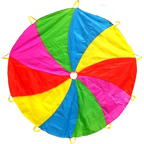 Edz Kidz 210T Fun Play Swirl Pattern Parachute with 10 Handles. Ideal Indoor/Outdoor play mat and Picnic Blanket.