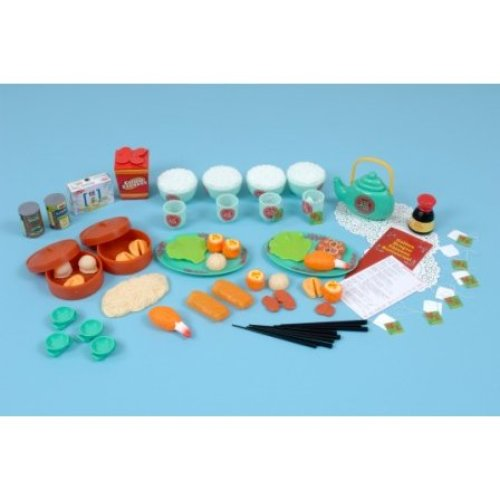 Childrens 68 Piece Chinese Food Play Set (A1435)