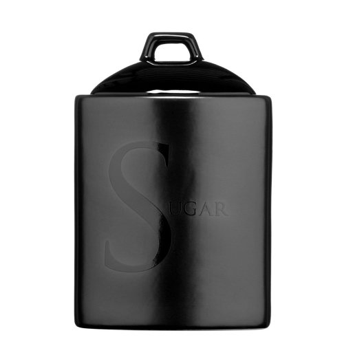 Black Text Sugar Storage Jar Ceramic Also Available Tea/Coffee/Biscuit
