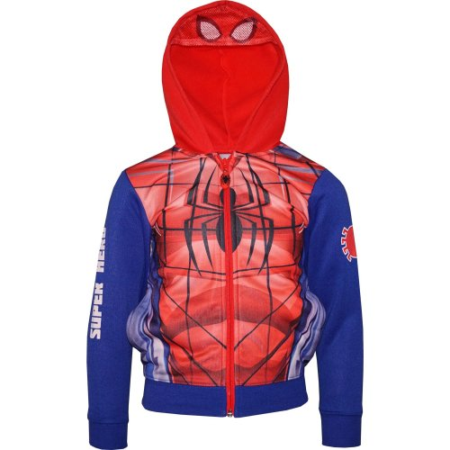 Boys Marvel Spiderman Full Zip Hooded Sweatshirt