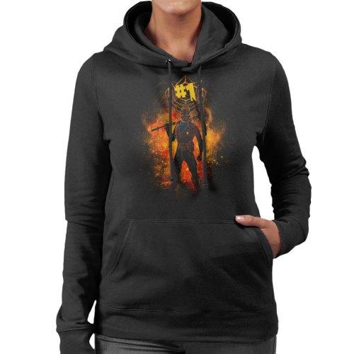 Rust Lord Spray Art Fortnite Women's Hooded Sweatshirt