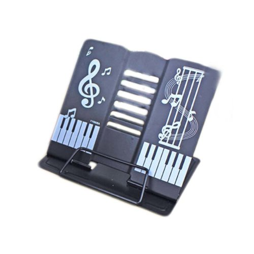 Creative Book Stand Reading Holders Bookends Book Racks, Music Black