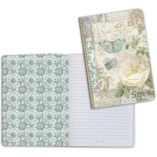 Stamperia Lined Notebook A5-Patchwork 1, Azulejos