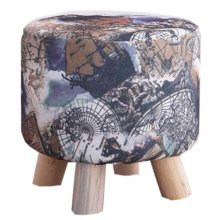 Creative Wood Linen for Shoe Stool Household Stool Round stool Children Adults Apply # 3