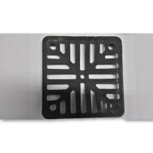 "6"" x 6"" 152mm x 152mm 9mm thick Square Cast Iron Gully Grid / Grate Heavy Duty Drain Cover Black Satin Finish"