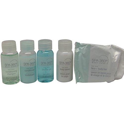 Spa 360 Body Care Sea Kelp Travel Set 2 Lotion, 2 Soap, 2 Shower Gel, 2 Shampoo, 2 Conditioner.