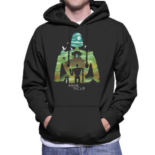 Laputa Castle In The Sky Robot Silhouette Men's Hooded Sweatshirt