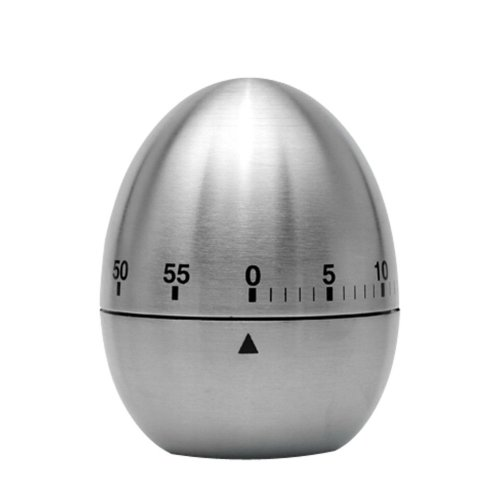 Creative Stainless Steel Mechanical Movement Kitchen Timer/Reminder-60 Minutes