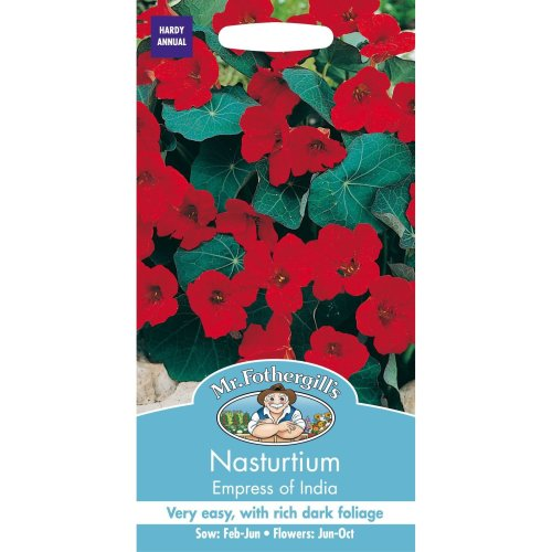 Mr Fothergills - Pictorial Packet - Flower - Nasturtium Empress of India - 25 Seeds